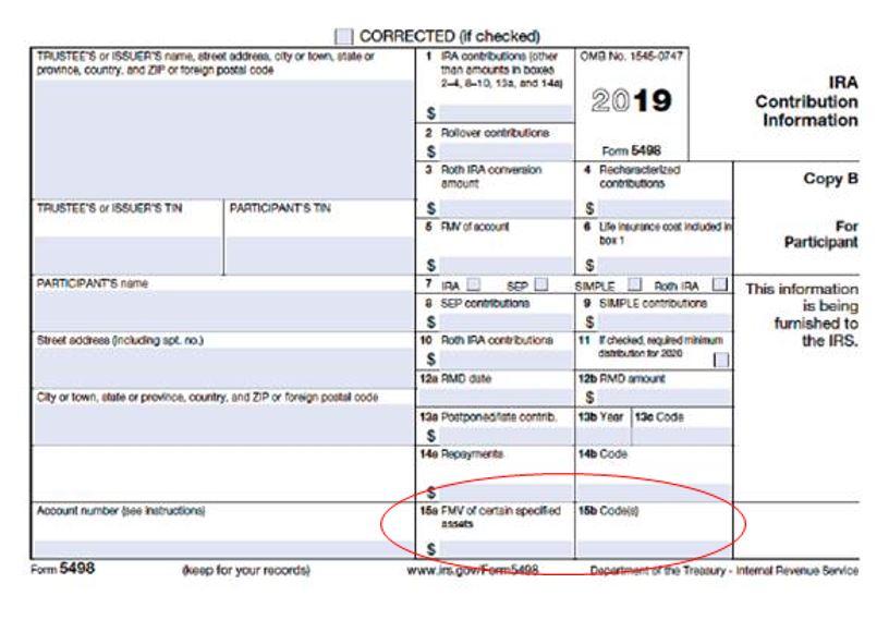 Form 5498 Exampe